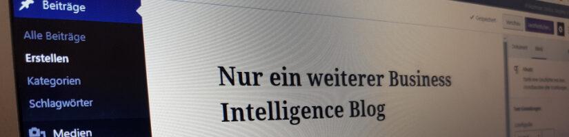 Nur ein weiterer Business Intelligence Blog