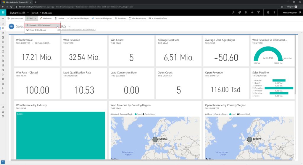 Neu Dynamics 365 Dashboard