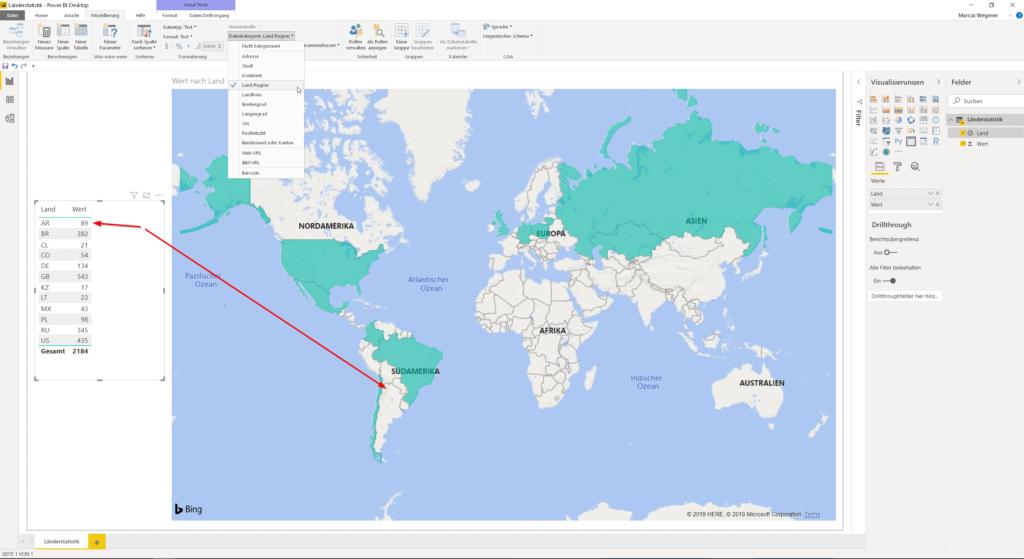 Kartenvisualisierung Flächenkartogramm Fehler bei Geokodierung