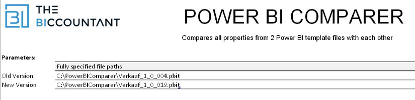 Vergleichen Sie Power BI-Dateien mit dem Power BI Comparer