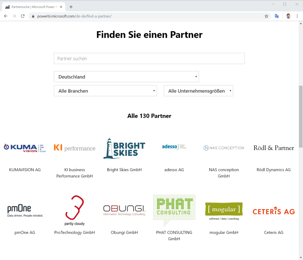 Power BI-Partner finden