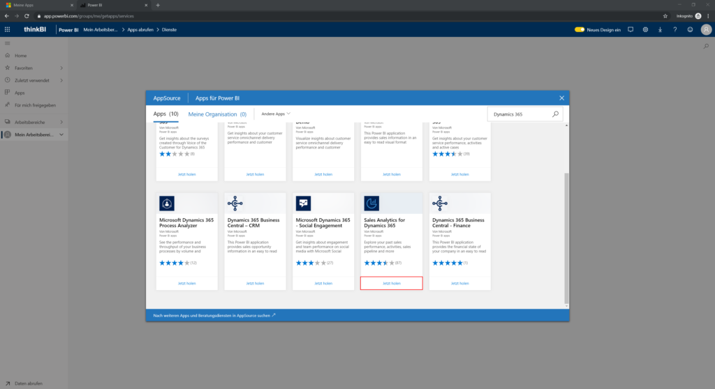 AppSource Sales Analytics for Dynamics 365 Jetzt holen
