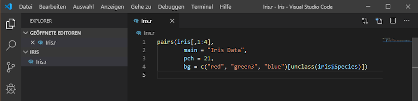 R mit Microsoft R Open und Visual Studio Code