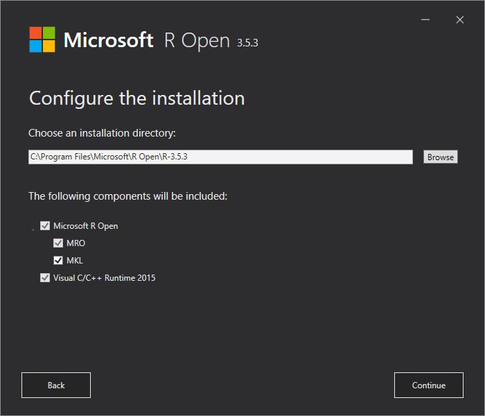 R Open Konfiguration