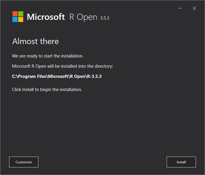 Microsoft R Open Installation