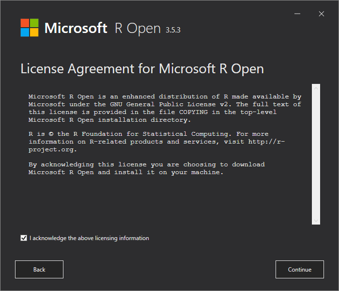 Lizenzvereinbarung R Open