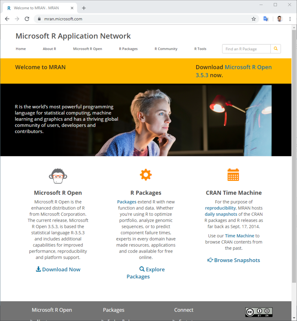 Microsoft R Open Webseite