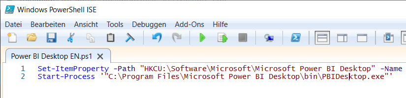 Set your Power BI Desktop language with PowerShell