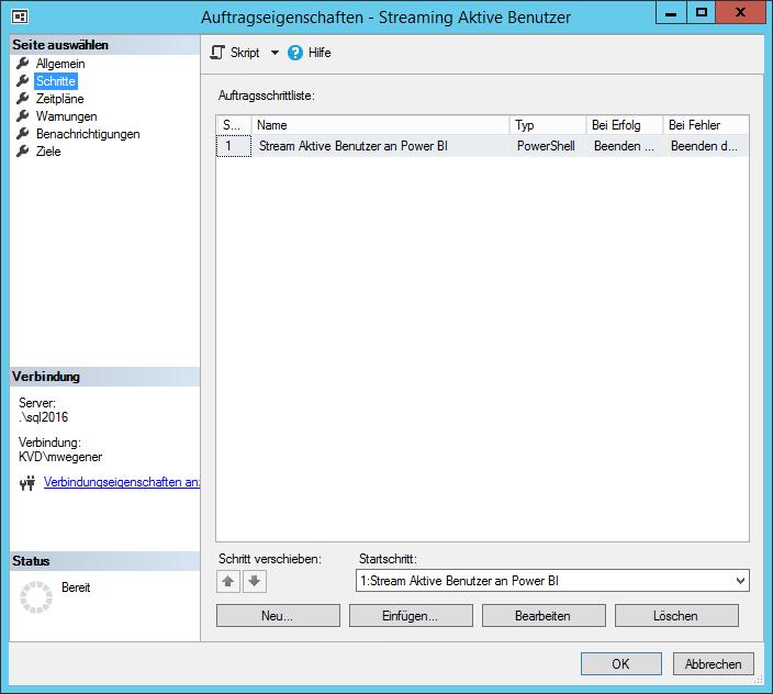 SQL Agent Auftrag erstellen