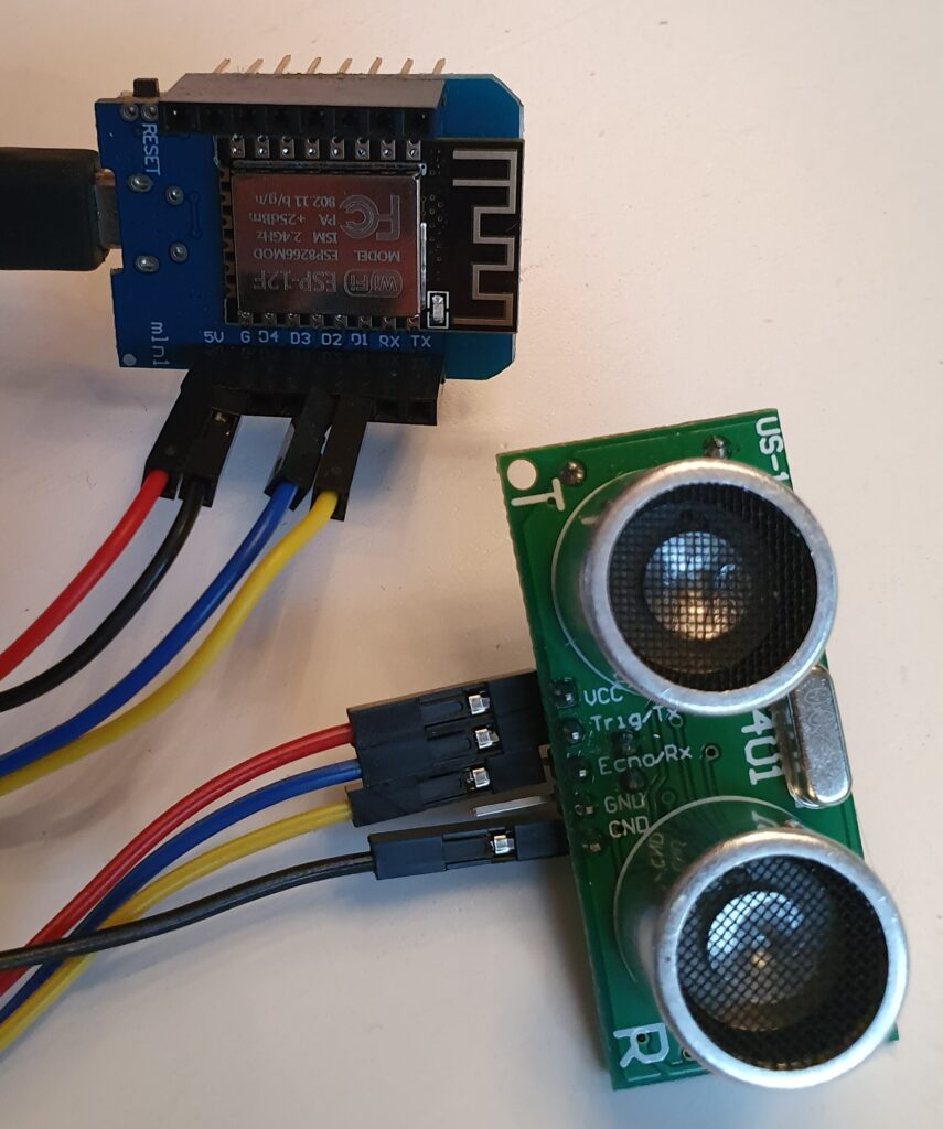 wiring WeMos US-100