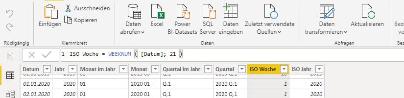 ISO 8601 Wochen in DAX